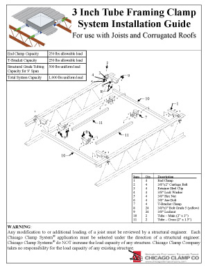 3 Inch Tube Framing Clamp System Installation Guide