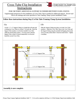 Cross Tube Clip Installation Guide