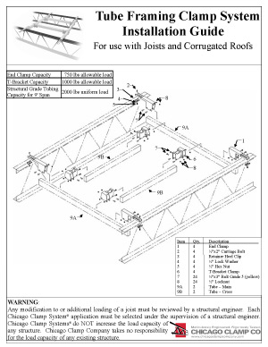 Tube Framing Clamp System Installation Guide