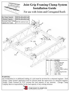 joist Grip Framing Clamp System Installation Guide