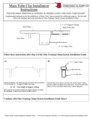Main Tube Clip Installation Guide
