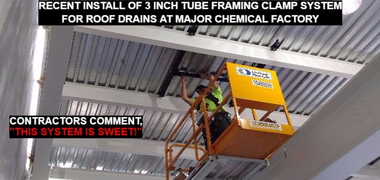 Recent Installation of 3 Inch Tube Framing Clamp System