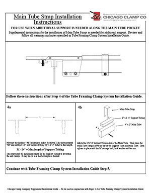 Main Tube Strap Installation Guide