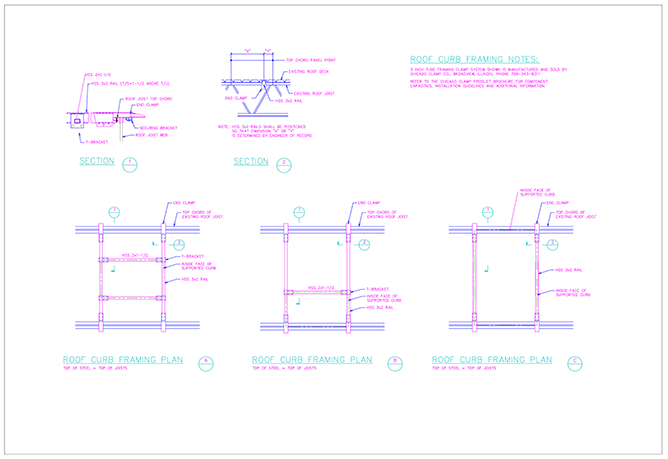 3 Inch Tube Framing Clamp System Plan Detail